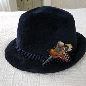 Collins Wien Vintage Velour Fedora Hat- 57
